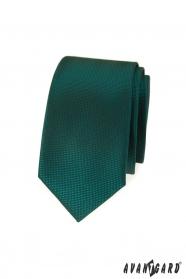 Tmavo zelená slim kravata