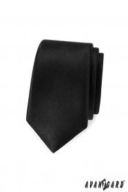 Úzka, Čierna pánska kravata Avantgard
