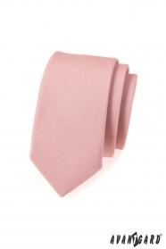 Úzká kravata SLIM v módnej pudrovej