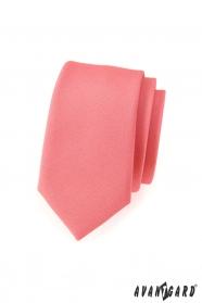 Pánska kravata SLIM LUX staroružová mat