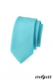 Pánska kravata SLIM Tyrkysová mätová