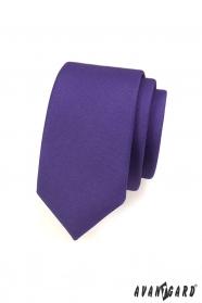 Kravata SLIM pre pánov tmavo fialová