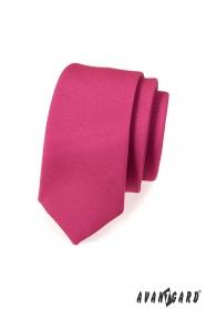 Pánska kravata SLIM fuchsiová mat