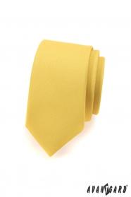 Kravata SLIM pre pánov jasne žltá