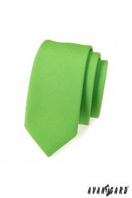 Pánska kravata SLIM LUX - Zelená mat