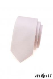 Úzka kravata Avantgard púdrové farby