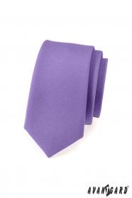 Svetlo fialová matná slim kravata