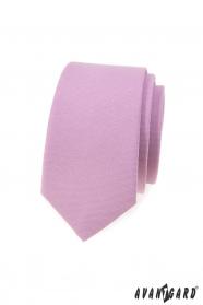 Slim kravata vo farbe lila