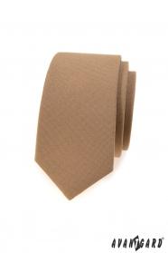 Svetlo hnedá slim kravata