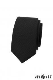 Čierna slim kravata
