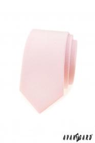 Slim kravata jemne lososovej farby