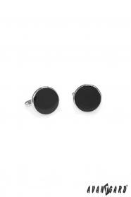 Kulaté manžetové gombíky čierne
