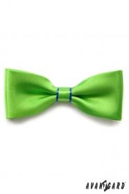 Zelený motýlik s modrým prúžkom a vreckovkou