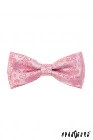 Ružový motýlik s Paisley vzorom + vreckovka