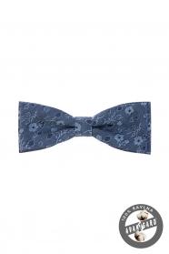 Bavlnený pánsky motýlik modrá jeans