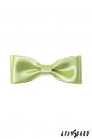 Klasický pánsky motýlik limetková zelená