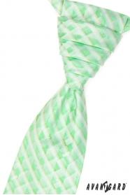 Francúzska kravata s vreckovkou - Zelená 1179