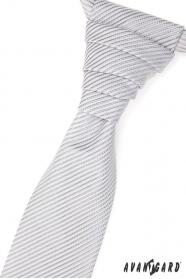 Francúzska kravata s ľahkým lesklým prúžkom