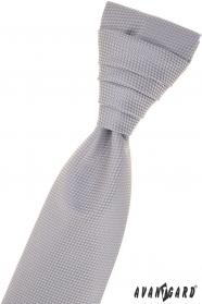 Šedá štruktúrovaná francúzska kravata