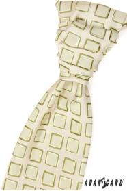 Francúzska kravata zelené štvorčeky
