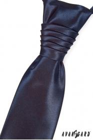 Svadobná francúzska kravata Navy Blue