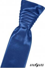 Svadobná francúzska kravata v kráľovskej modrej