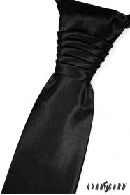 Elegantná čierna francúzska kravata
