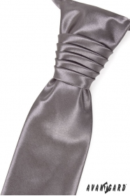 Svadobná francúzska kravata grafitová