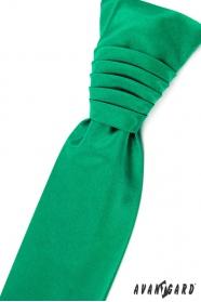 Smaragdová francúzska kravata s vreckovkou