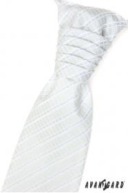 Francúzska kravata s vreckovkou zelená s prúžkami