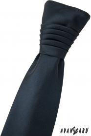 Svadobná francúzska kravata matná v modrej