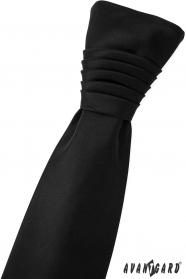 Francúzska svadobná kravata čierna matná