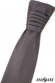 Matná sivá francúzska svadobná kravata