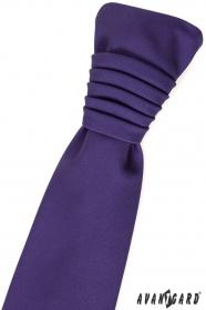 Tmavo fialová francúzska kravata