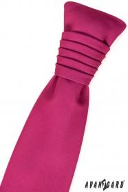 Francúzska svadobná kravata fuchsiová