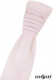 Francúzska kravata s vreckovkou - ružová blush