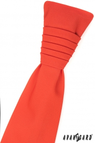 Tmavo oranžová francúzska kravata