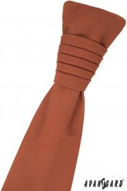 Škoricovo hnedá francúzska kravata
