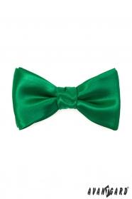 Viazací motýlik s vreckovkou smaragdovo zelený