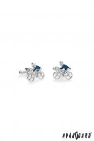 Manžetové gombíky Cyklista v modrom