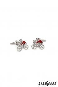 Manžetové gombíky Cyklista v červenom drese