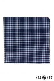 Pánska vreckovka modrá jemná kocka