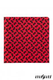 Červená vreckovka Čierne bicykle