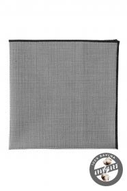 Čiernobiela vreckovka zo 100% bavlny