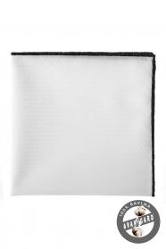 Biela vreckovka 100% bavlna černý okraj
