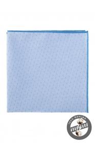 Svetlomodrá bavlnená vreckovka jemný vzor