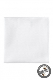 Biela bavlnená vreckovka jemne štruktúrovaná