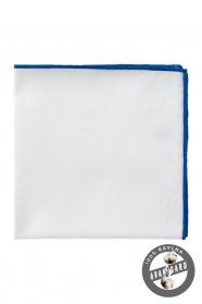 Pánska vreckovka biela modrá bavlna
