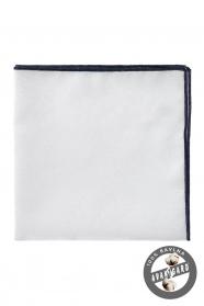 Pánska vreckovka 100% bavlna biela modrá