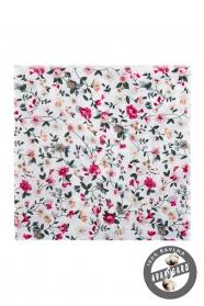 Smotanová pánska vreckovka, kvetinový vzor